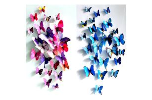 Magnety 3D motýl - 4 barvy