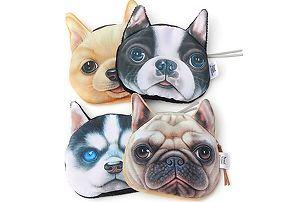 Malá peněženka v podobě psí hlavy