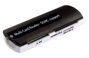 Univerzální čtečka paměťových karet do USB, čte SD/MMC/RS-MMC/MiniSD/TF/MS/M2