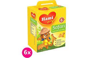 6x Hami Safari dětské sušenky 180g