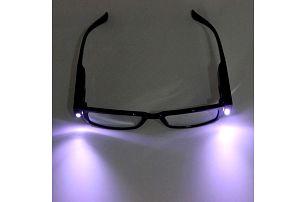 Dioptrické brýle na čtení s LED osvětlením - dodání do 2 dnů