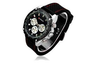 Pánské hodinky Curren s ciferníkem v černé barvě - skladovka - poštovné zdarma