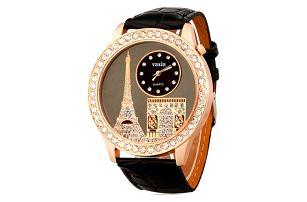 Dámské elegantní hodinky s eiffelovkou - 3 barvy