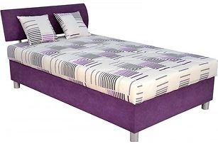 Praktická manželská postel George 120x200 cm (fialová)