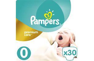PAMPERS Premium Care 0 NEWBORN (do 2,5kg) 30ks - jednorázové pleny