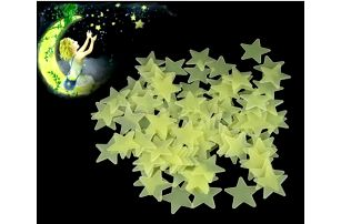 Svítící hvězdičky na zeď - 100 ks!