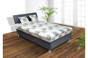 Praktická manželská postel George 120x200 cm (šedá)