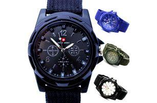 Pánské sportovní army hodinky - skladovka - poštovné zdarma