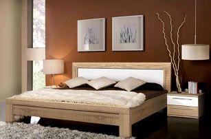 JULIETTA, postel 180x200 cm, dub sonoma/bílý lesk - DOPRODEJ