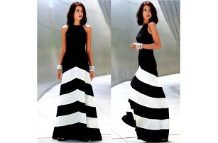 Černobílé šaty Winona!