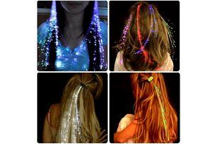 LED dekorace do vlasů!
