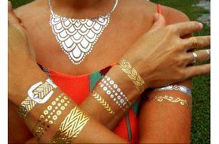 Metalické tetování Silver and gold!