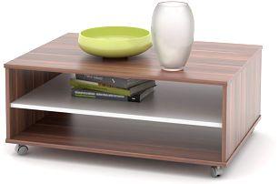 Konferenční stolek ZU05, švestka/bílá