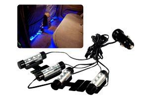 Modrá LED světla do auta