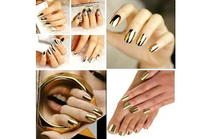 Nálepky na nehty v metalových odstínech!