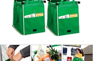 Taška na nákupy do nákupního vozíku pro pohodlné skládání zboží!