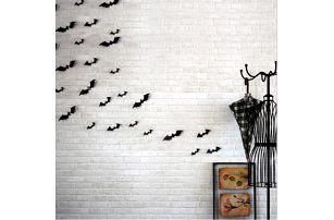3D netopýří samolepky na zeď Halloween!