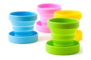 Silikonový skládací pohárek