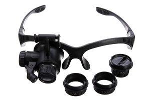Zvětšovací brýle - 4 vyměnitelné objektivy s různým přiblížením - dodání do 2 dnů