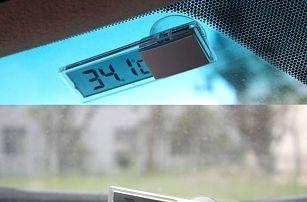 Digitální teploměr do auta - stříbrný