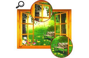 3D samolepka - okno do přírody - dodání do 2 dnů