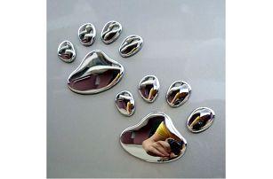 Samolepky na auto ve tvaru psích tlapek - dodání do 2 dnů