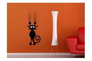 Samolepka na zeď - rozverné kočičky - poštovné zdarma