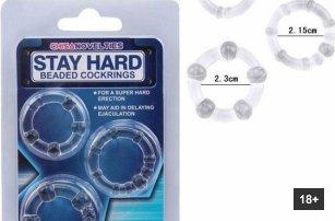 Sada erekčních kroužků prodlužujících sex Stay Har...