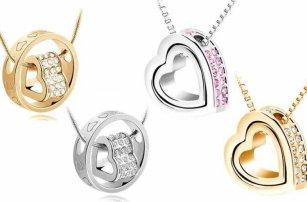 Elegantní náhrdelník ve tvaru srdce v různých variantách