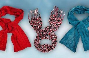 Dámské pletené zimní šály Loap