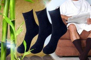 Antibakteriální bambusové ponožky! 12 párů černých antibakteriálních ponožek ve velikosti 35-46!