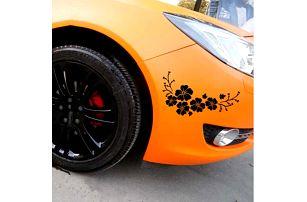 Květinová samolepka na auto