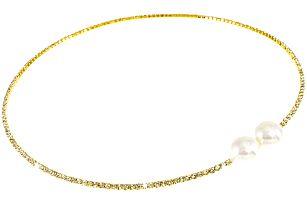 Fashion Icon Náhrdelník perla štrasový