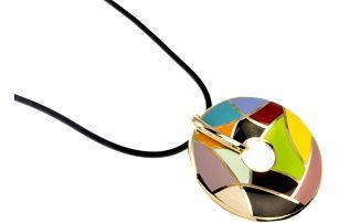 Náhrdelník zlatý s prvky kubismu