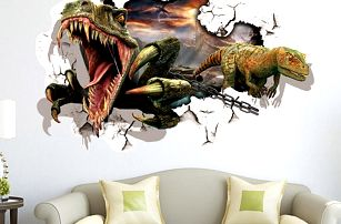3D samolepka na zeď s dinosaury - skladovka - poštovné zdarma