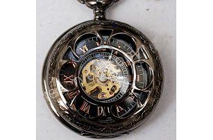Pánské kapesní hodinky steampunk samonatahovací - dodání do 2 dnů