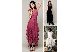 Krajkové šaty s cípatou sukní Marion