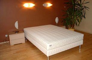 Čalouněná postel LUX + matrace + rošt, 140 x 200 cm