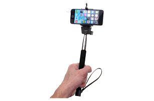 Selfie tyč s 3.5 mm kabelem - skladovka - poštovné zdarma