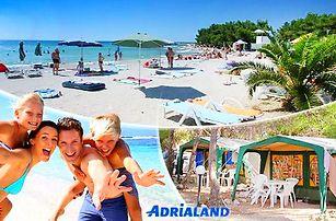 Chorvatsko, ostrov Pag - Povljana na 8 dní pro 1 os. ve stanech 150 m od pláže, možnost plné penze a busu!