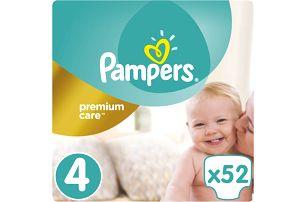 PAMPERS Premium Care 4 MAXI 52ks (8-14 kg)- jednorázové pleny