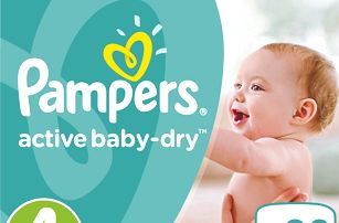 PAMPERS Active Baby 4 MAXI 90ks (7-14 kg) GIANT BOX PLUS - jednorázové pleny