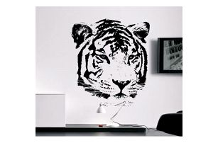 Samolepka na zeď - Tygří hlava