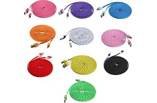 3 m dlouhý textilní USB kabel - poštovné zdarma
