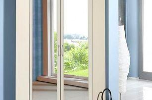 Rohová skříň Sprint 198 cm,2x zrcadlo (alpská bílá)