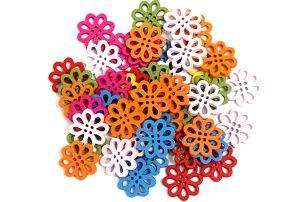 Set 50 knoflíků v podobě kytiček - dodání do 2 dnů