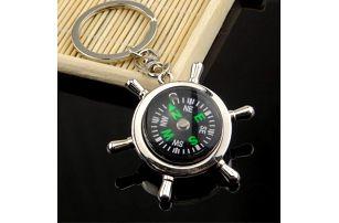 Klíčenka kormidla s kompasem - dodání do 2 dnů