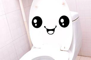 Vtipná nálepka na wc