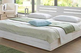 Dřevěná postel Susan - 180x200 cm 803293(803 - bílý dub, chromové doplňky)