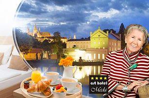 Praha pro dva až na 5 dní ve 4* arthotelu Meda. Snídaně, vstup do musea Kampa, sleva na 3chod. menu.